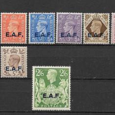 Fortele britanice din Africa de Est, serie completa MNH, Nestampilat