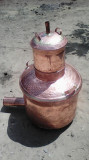 Cazan de facut tuica de 100 litri   complet