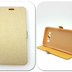Husa FlipCover Stand Magnet Huawei Ascend Y530 GOLD - Husa Telefon Huawei, Plastic, Cu clapeta