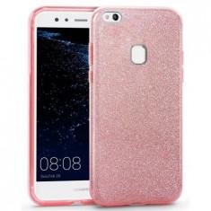 Husa protectie IMPORTGSM pentru Huawei P8/P9 Lite 2017, Silicon, Sclipici, Capac Spate, Roz