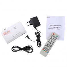Tuner TV HD TV Box 1080p HDMI + AV out USB2.0 DVB- T2 receiver, nu necesita PC - TV-Tuner PC, Extern (nu necesita PC)