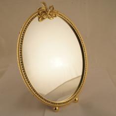Oglinda ovala metal