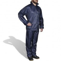 Costum ploaie bărbați 2 piese cu glugă Bleumarin XL - Costum barbati