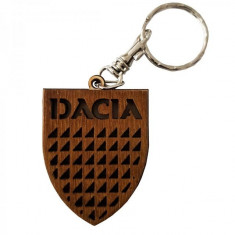 Breloc auto DACIA, din lemn - Cadou
