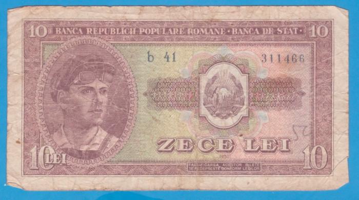 (2) BANCNOTA ROMANIA - 10 LEI 1952, REPUBLICA POPULARA ROMANA