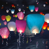 Lampioane zburatoare colorate 10buc/set