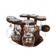 Minibar din lemn cu sticla si 6 pahare CDT-25-OSH