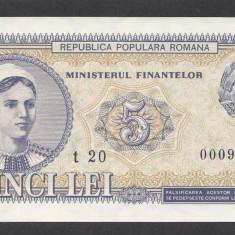 5 lei 1952 2 aUNC UNC - Bancnota romaneasca