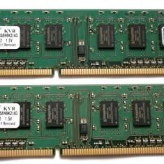 KIT MEMORII DDR3, 4GB, KINGSTON, 2x2GB, FSB1333, IMPECABILE! - Memorie RAM Kingston, 1333 mhz, Dual channel