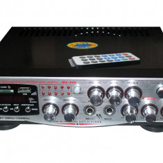 Amplificator Karaoke MA-009 2x50w Statie Audio Microfon Radio USB Telecomanda - Amplificator audio