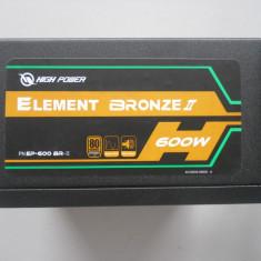 Sursa Sirtec High Power Element BRONZE II 600W. - Sursa PC Sirtec, 600 Watt