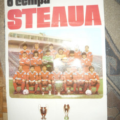 Poster Steaua cu 2 Trofee Continentale -Cupa Campionilor Europeni si Supercupa E