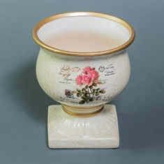 Vaza - Ghiveci - Ceramica / Numarul 42 - Vaza si suport flori