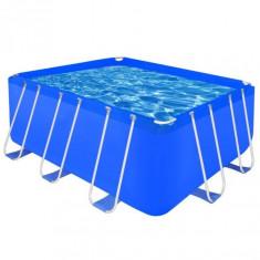 Piscină dreptunghiulară cu cadrul din oțel 400 x 207 x 122 cm