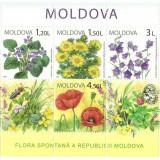 Moldova 2009 - flori de camp, bloc neuzat