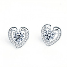 Cercei Argint Magic Hearts