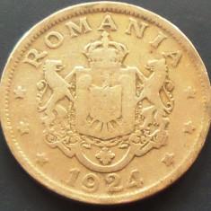 Moneda (Bun pentru) 2 LEI - ROMANIA, anul 1924 *cod 2803