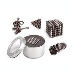 Neocube 216 bile magnetice 5mm neodymium - argintiu - Jocuri arta si creatie