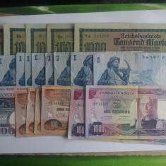 2. Lot bancnote Angola, Germania, Israel, Asia