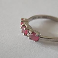 Inel argint cu rubine si diamante -2799X