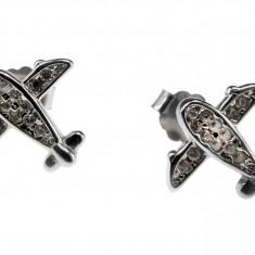 Cercei argint rodiat avioane