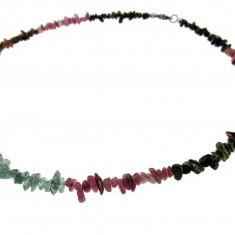 Colier turmalina multicolora chips