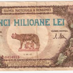 ROMANIA 5000000 LEI 1947 U FALS DE EPOCA - Bancnota romaneasca