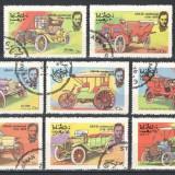 OMAN 1976 - AUTOMOBILE DE EPOCA - SERIE DE 8 TIMBRE - STAMPILATE / auto104