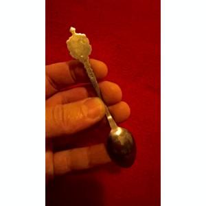 Lingurita alpacca argintata cu blazon