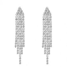 Cercei Crystal Cascade - Cercei placati cu aur