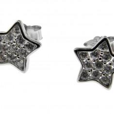 Cercei argint rodiat stelute