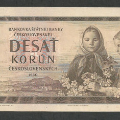 CEHOSLOVACIA 10 COROANE KORUN 1960 [1] P-88, XF+ - bancnota europa