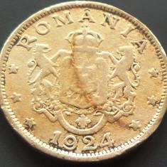 Moneda (Bun pentru) 2 LEI - ROMANIA, anul 1924 *cod 3951 - POISSY
