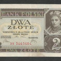 POLONIA 2 ZLOTI ZLOTE 1936 [1] P-76, VF+ - bancnota europa