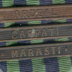 Medalia CRUCEA COMEMORATIVA 1916-1918 cu 3 barete - ARDEAL, CARPATI & MARASTI - Decoratie