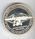 Pilot ALEX PAPANA campion al celor doua americi medalie aviatie SUPERBA & RARA
