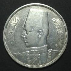 Egipt 10 piastres 1937 Argint, Africa