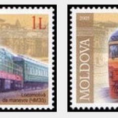 Moldova 2005 - locomotive, serie neuzata
