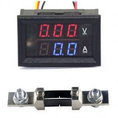 Voltmetru Ampermetru VoltAmpermetru 0-200V 0-200A + Shunt 200A DC