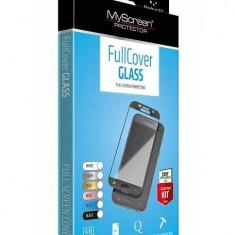 Folie MyScreen FullGlass Samsung A8/2018 Negru - Folie de protectie