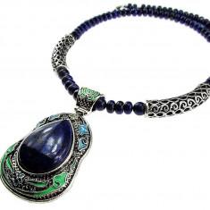 Colier masiv pietre naturale lapis lazuli UNICAT