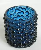 Vaza sticla veche albastra