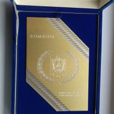 MINISTERUL DE INTERNE - JANDARMERIA ROMANA Medalie SUPERBA in cutie originala - Medalii Romania