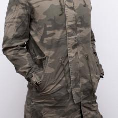 Geaca Army - geaca lunga geaca barbat geaca primavara toamna geaca slim fit, L, XL, XXL, Din imagine