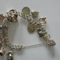 Bratara argint vintage cu charmuri -2754X