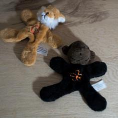 2 jucarii de plus cu magnet, vulpe si maimuta ( 13 x 12 cm fiecare ) #622 - Jucarii plus