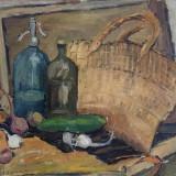 Ioan Th Ispas ( ? - 1943 ) - pictura interbelica , acte licitatie, Natura statica, Ulei, Altul