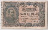 ITALIA BIGLIETTO DI STATO 10 LIRE SIGNATURE Dell'Ara and Righetti. 25.10.1892 F