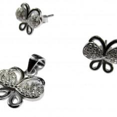 Set argint fluturi - Set bijuterii argint