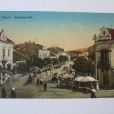 Carte postala circulata 1915 Ujhorod-Transcarpatia Ucraina,cenzura militara WW I